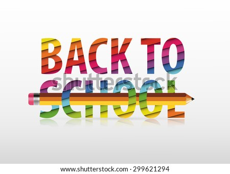 "Vector multicolored ""Back to School"" text - stock vector"