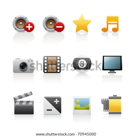 Vector multimedia icons.