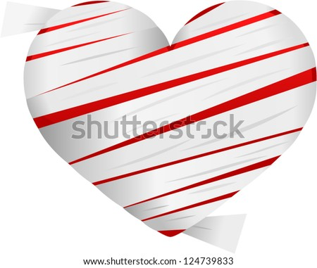 vector mummy heart - Separate layers for easy editing