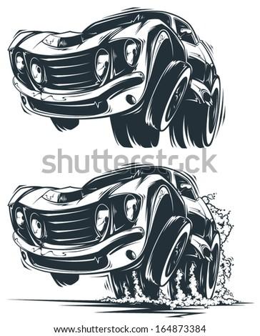 Vector Muscle Car - stock vector