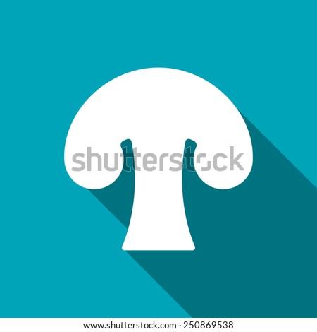 Vector mushroom icon. Food icon. Eps10 - stock vector