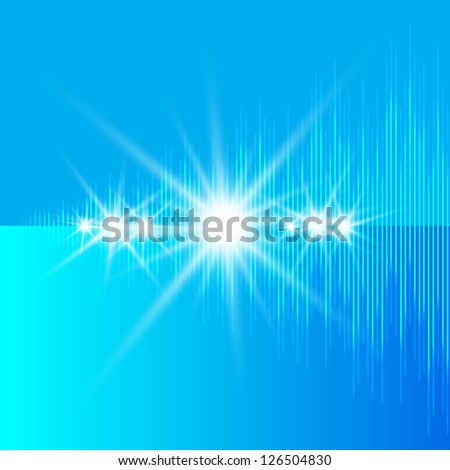 Vector music equalizer - stock vector