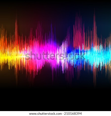 Vector music equalizer wave background. - stock vector