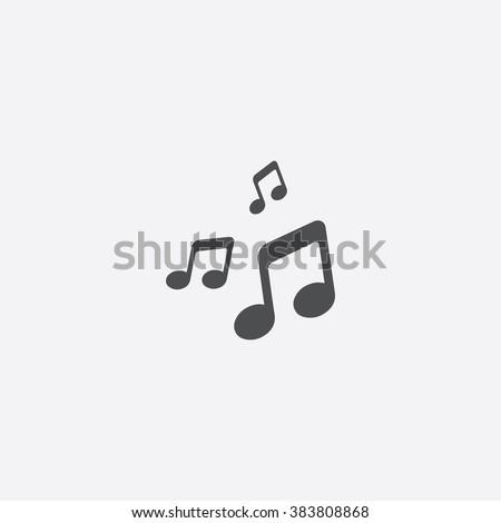 Vector music Icon - stock vector