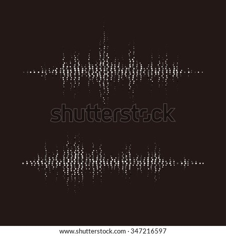Vector music sound waves set for party, DJ, pub, clubs, discos. Audio sound equalizer technology. Vector illustration