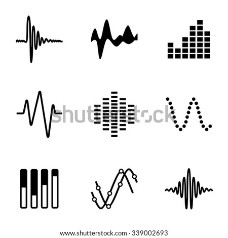vector music soundwave icon set on stock vector 339002693 shutterstock rh shutterstock com vector musician vector music