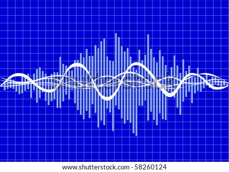 vector music wave - stock vector