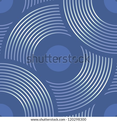 Vector musical discs seamless pattern - stock vector