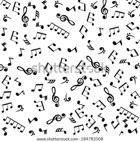 vector musical notes seamless background