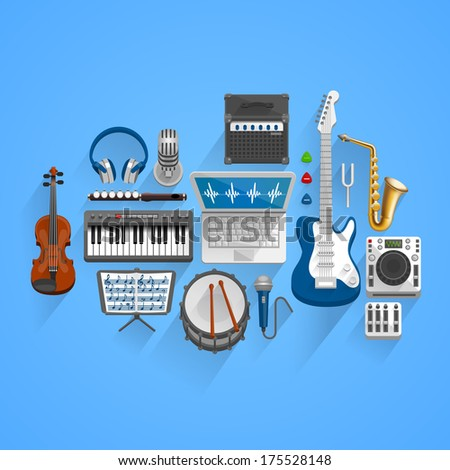 Vector musical style - stock vector