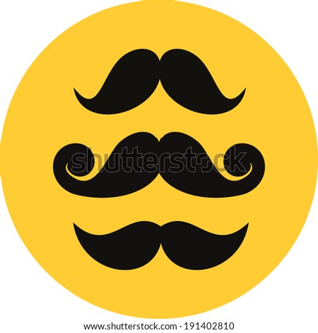 Vector Mustaches - stock vector