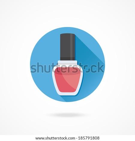 Vector Nail Polish Icon - stock vector