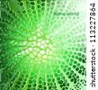 Vector nano structure green background - stock vector