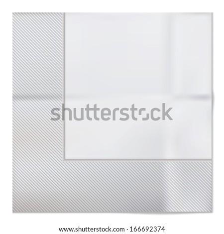 Vector napkin - stock vector