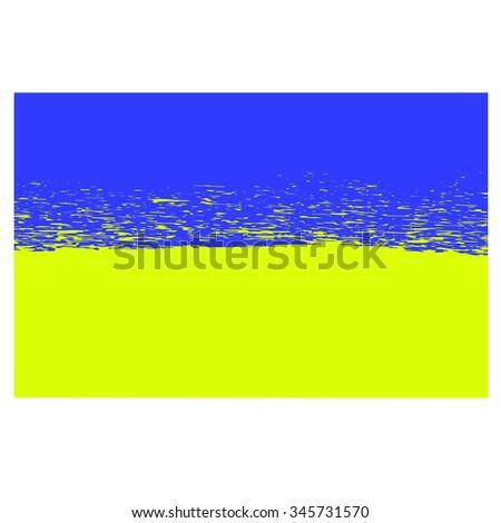 Vector National Flag Ukraine Ukrainian Grunge Stock Vector 345731570