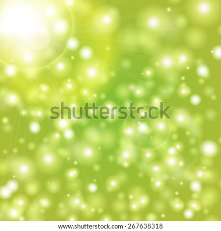 Vector natural green blurred background.