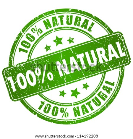 Vector natural stamp - stock vector