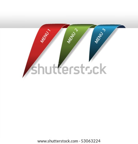 Vector navigation arrows on white paper