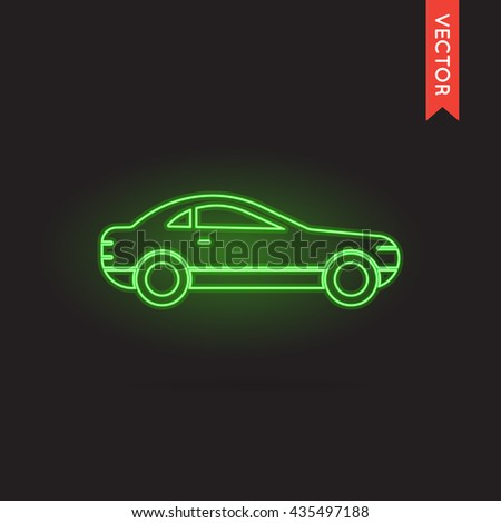Vector Neon Car Icon