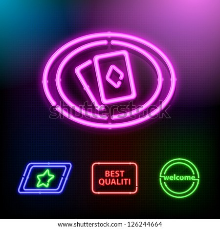 Vector neon set - stock vector