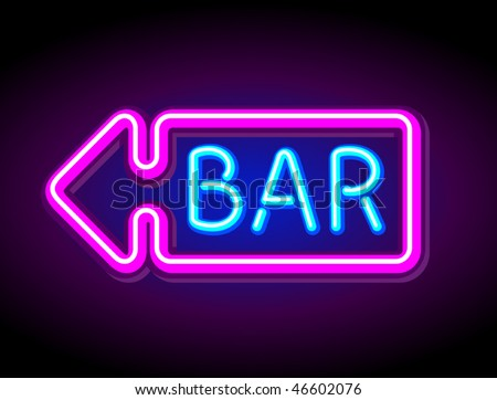 bar sign stock images royalty images vectors shutterstock vector neon sign bar