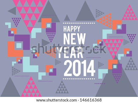 vector new year 2014 - stock vector