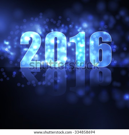 vector new year 2016 beautiful design - stock vector