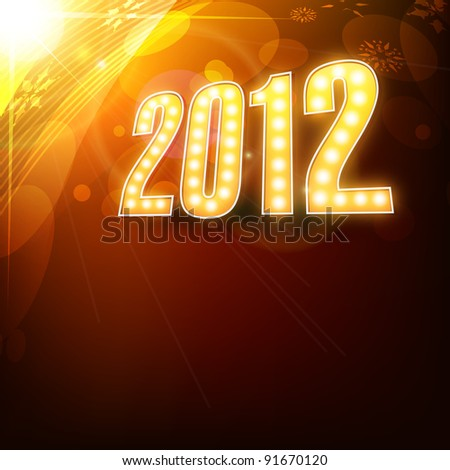 vector new year 2012 stylish design