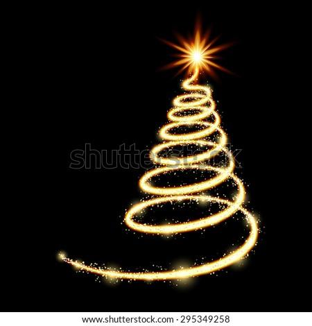 Vector new year tree / Christmas tree - stock vector