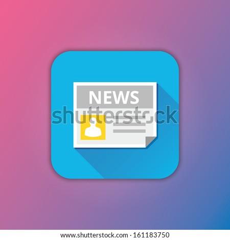 Vector News Icon - stock vector