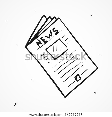 Vector newspaper hand drawn  - stock vector