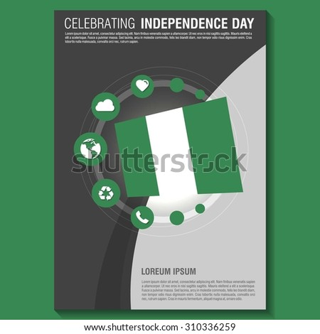 Vector Nigeria Independence Day Flyer Template Stock Vector HD ...