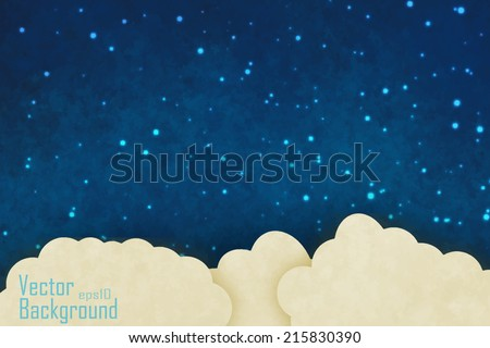 Vector night sky - stock vector
