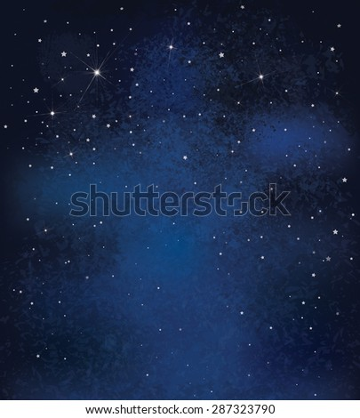 Vector night starry sky background. - stock vector