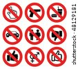 vector no allowed marks - stock vector