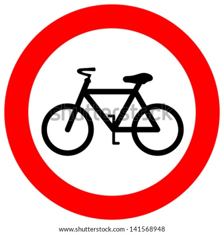 Vector no bicycle sign - stock vector