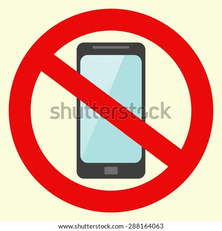 Vector no cell phone sign. stock vector
