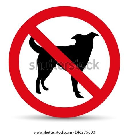 vector no dog mark - stock vector