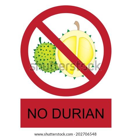 vector no durian allow...