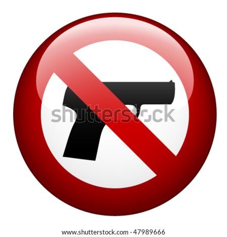 vector no gun mark - stock vector