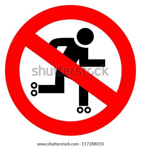 Vector no skater sign - stock vector