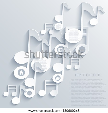 Vector note icon background. Eps10 - stock vector