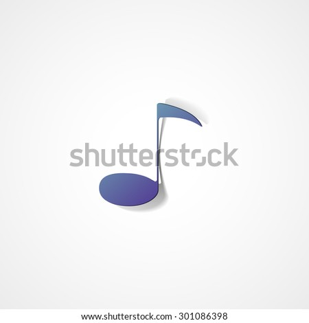 Vector note web icon on white background