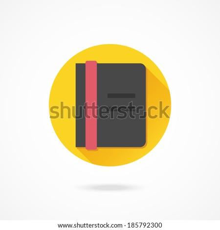 Vector Notebook Icon - stock vector