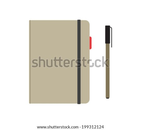 Vector Notebook Icon Symbol Illustration - stock vector