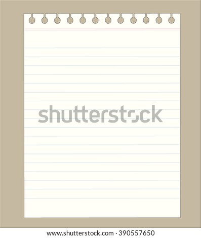 Vector notebook paper background