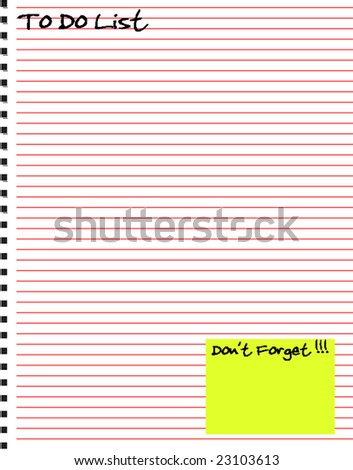 Vector Notebook Style To Do List