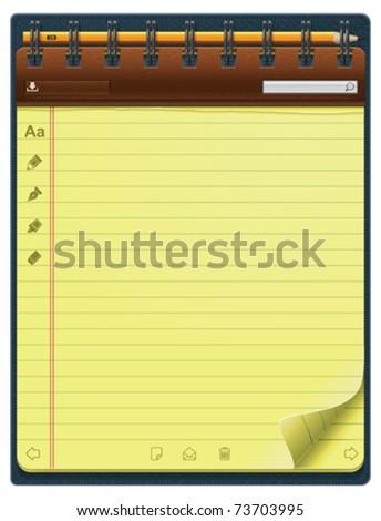 Vector notepad template (vertical) - stock vector