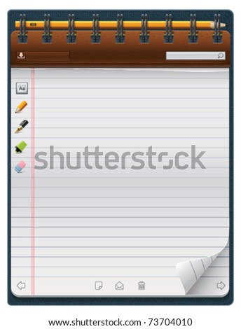 Vector notepad template (vertical) - stock vector