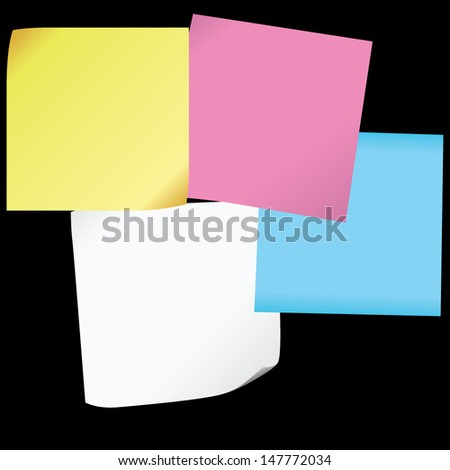 Vector notes blank paper on a blackboard design